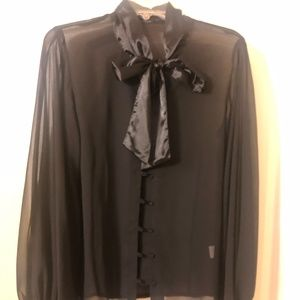 Sheer tie top, New without tags
